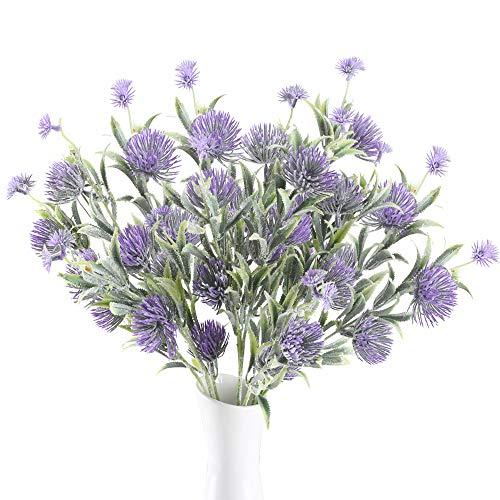Huaesin 3pcs fiori finti da esterno interno fiori di plastica mazzi fiori artificiali finti per decorazioni casa soggiorno matrimonio balcone interno esterno vaso giardino (70cm)