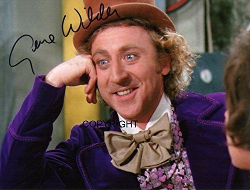 Wilder Willy Wonka unterzeichnet Foto Autogramm signiertsigniertes (Willy Wonka Chocolate Bar)
