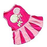 Vêtements pour chien Pet robe déguisement Pom-Pom Girl Sport pour Homme Gaze coton respirant Casual sans manches