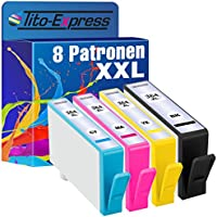 PlatinumSerie® 8x Cartucce compatibile con HP 364XL Black Cyan Magenta Yellow PhotoSmart Premium B010B B010 Series B210A B210 B210 Series B210B B210C B210E B410A B410 Series B410C C309G C310A C410A C410 Series C410B C410C C410D C410E