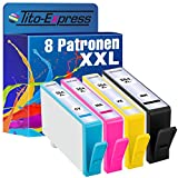 PlatinumSerie® 8x Druckerpatrone XXL kompatibel für HP 364 OfficeJet 7515 PhotoSmart B109A B8550 PhotoSmart e-All-in-One 7510 7520