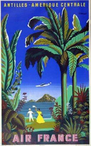 air-france-antilles-amerique-centrale-bvillemot-1948-50x70-cm-affiche-poster