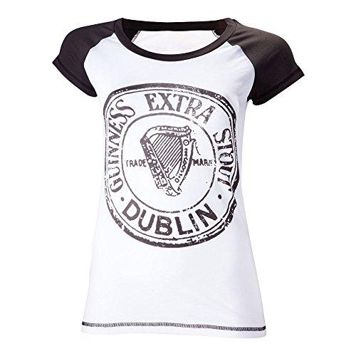 guinness-maglietta-a-maniche-corte-da-donna-con-scritta-guinnes-extra-stout-dublin-sciancrata-taglia