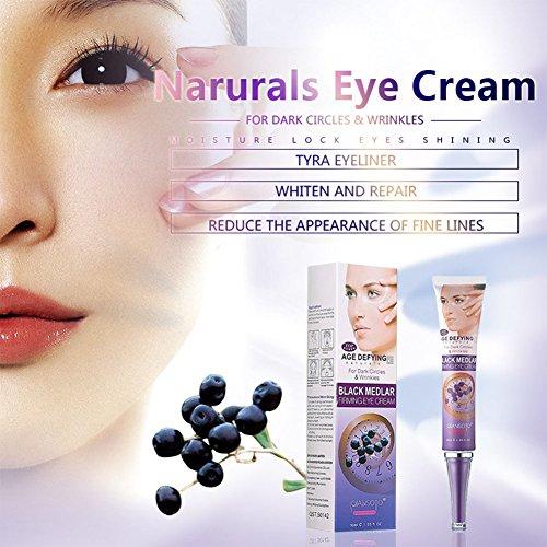 Yiwa Femme Maquillage Noir Medlar raffermissant Crème contour des yeux anti-âge retirer cernes hydratant antirides œil Soins de la peau de la crème