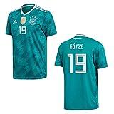 DFB DEUTSCHLAND Trikot Away Kinder WM 2018 - GÖTZE 19, Größe:164
