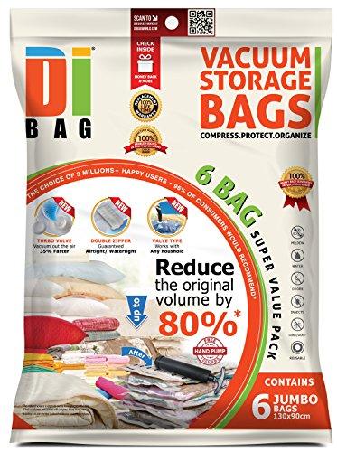 DIBAG - Bolsas de almacenaje al vacío de ropa para ahorrar espacio.