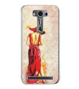 Girl in Red Dress 2D Hard Polycarbonate Designer Back Case Cover for Asus Zenfone 2 Laser ZE500KL (5 INCHES)