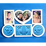 Babies Bloom Baby Blue Imprint Photo Frame For Growth Record (Photo And Clay Both)