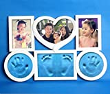 #7: Babies Bloom Baby Blue Imprint Photo Frame for Growth Record (Photo and Clay Both)