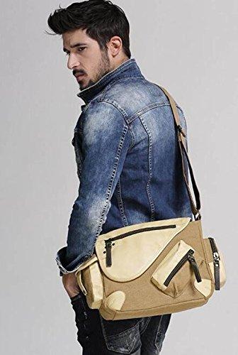 MYLL Brown Spalla Canvas Spalla Messenger Mens Bag MYLL Confezione qTEBxgww