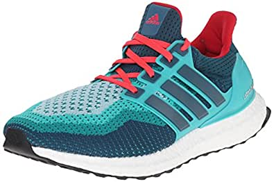 adidas Performance Men's Ultra Boost M Running Shoe Clear Green/Mineral/Shock Red 9 D(M) US