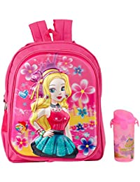 Uxpress Barbie Pink School Bag With Water Bottle
