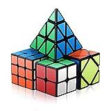Roxenda Speed Würfel Set, Zauberwürfel Set 2x2x2 3x3x3 Skewb Pyramid Smooth Puzzle Würfel