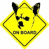 Chihuahua Dog - Voiture Autocollant / Car Sticker Sign