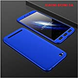 Xiaomi Redmi 5A Original 360 Degree Full Body Mobile Protection Hybrid Protective Front & Back Case Cover Comes With 0.3mm HD+ Tempered Glass From HRV (Color : Blue)