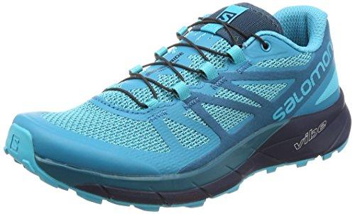 Salomon Sense Ride W, Zapatillas de Trail Running para Mujer, Azul (Bluebird/Deep Lagoon/Navy Blazer 000), 38 EU