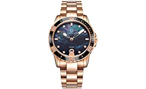 Granton - Influence - Montre Femme Noir Or Rose