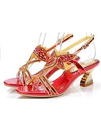 XZGC, Sandali donna, rosso (Rot), 40 EU