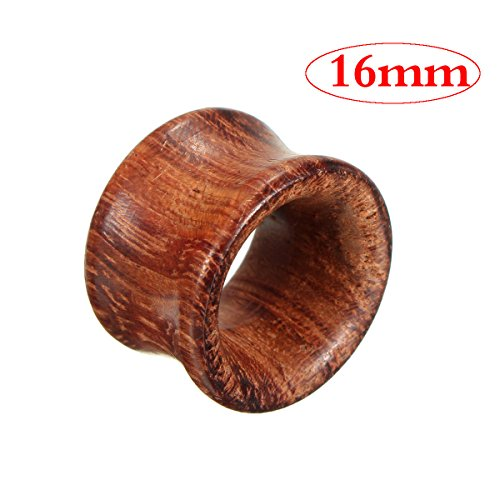 GOZAR 8mm-20mm 1Pc Holz Tunnel Ohr Messgeräte Stecker Hohl Expander-16mm