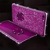 LZXAL Caja del teléfono móvil Funda de Diamante Brillante para Huawei Nova3 Nova3i P20 Mate 10 20 Lite Pro Honor 7X 8X Soporte para Anillo de Dedo Soft TPU- (Mate 20 Lite) -1