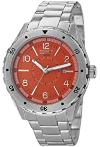 Esprit Herren-Armbanduhr XL Alamo Orange Analog Quarz Edelstahl ES105541004