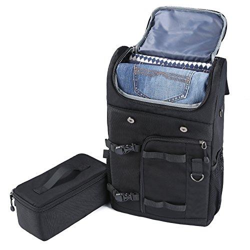 K&F Concept Kamerarucksack Fotorucksack Reiserucksack für Canon Nikon Kamera mit entnehmbares Kameraeinsatz und 5er Reinigungsset