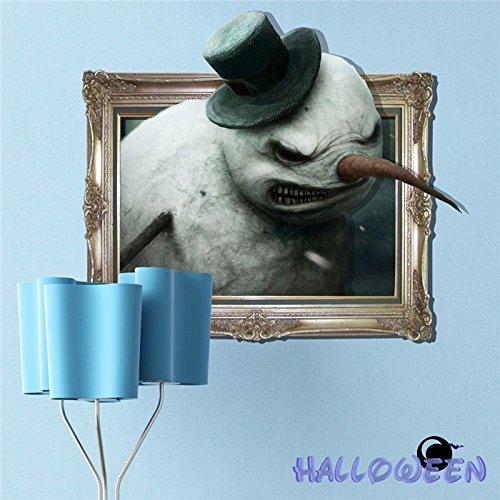 PAG AUFKLEBER 3D Wand Aufkleber Halloween Schnee Monster Wall Decals Zuhause Party Wand Dekor Geschenk ()