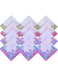 higadget™ Women 100% Cotton Premium Collection Handkerchiefs - Pack of 12 -