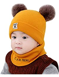 14f9360511c CATSAP Newborn Unisex-Baby Toddler Winter Beanie Warm Hospital Hat Hooded  Scarf Earflap Knitted Ski Cap Girls…