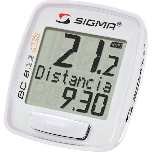 Sigma Sport Fahrradcomputer BC 8.12 ATS, White, 08130