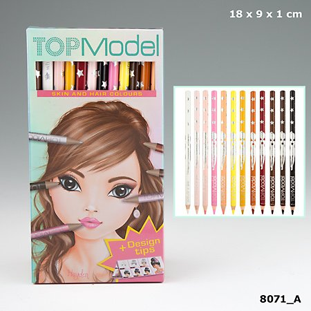 Depesche Top Model Coloured Pencil Set Skin and Hair Colours by Top Model