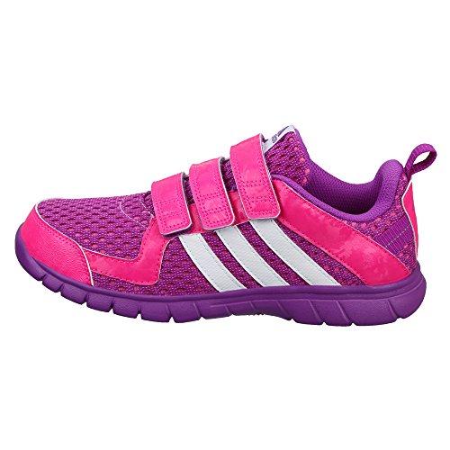 adidas Sta Fluid 3 Cf K, Chaussures de Sport Garçon Violet - Morado (Pursho / Ftwbla / Rosimp)