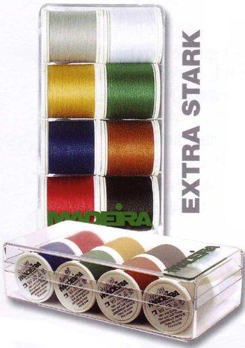 Madeira 8016 Areofil Boîte fils à coudre N° 35 8 bobines de 100 m Super résistant