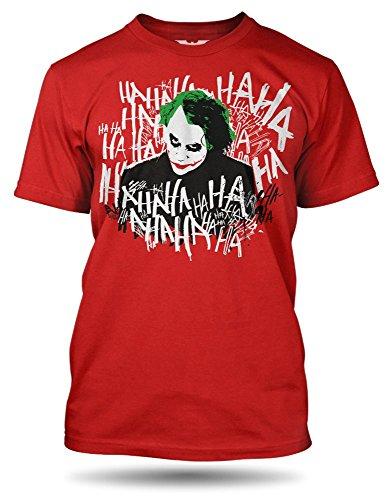 DC Comics Batman Joker crazy, 100% Baumwolle Rot