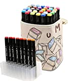 Haresle 30 Colours Pen Markers Dual Tip Colouring Pens Alcohol Based Graphic Artists