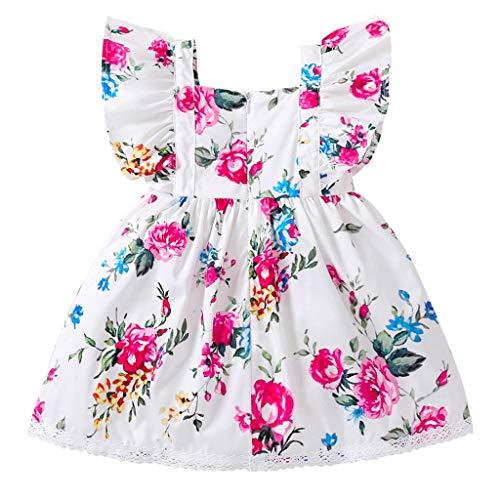 MISSWongg_Babykleidung Neugeborene Kleidung Baby Kids Ärmelloses Blumen Spitzenkleid Kinder Kleidung Outfits