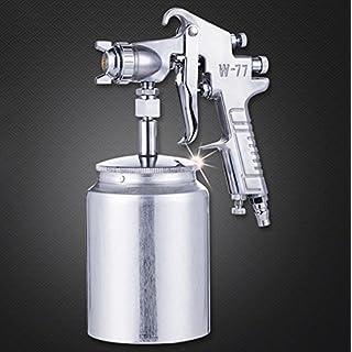 LJXiioo Pistolet de pulvérisation de Peinture de Siphon d'alliage d'aluminium, Tasse de 400ml, Bec de 2.0mm, Outils de DIY de traitements de Mur