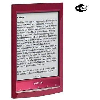 Sony Reader Wi-Fi (PRS-T1RC) Rot: E-Book-Reader mit integriertem E-Book-Shop. Neu: Internetzugang per Wi-Fi. Reader Store & offener Browser. 8-stufige Schriftvergrößerung, 6 Schriftarten zur Auswahl