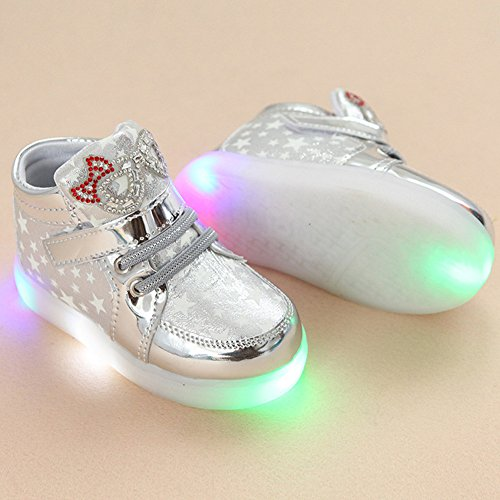 Zapatos LED niños zapatos ligeros, Stillshine – Chica intermitente deporte Running zapatillas zapatos de bebé de Halloween regalo de Navidad
