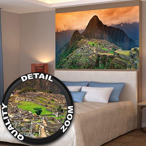 Poster Machu Piccu Wandbild Dekoration Südamerika Peru Sehenswürdigkeiten Inka Stadt Ruine UNESCO Welterbe Kulturlandschaft | Wandposter Fotoposter Wanddeko Wandgestaltung by GREAT ART (140 x 100 cm) (Sie Bauten Amerika)