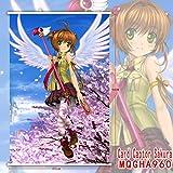 Hi!Hi Rollbild/Kakemono aus Stoff Poster Card Captor Sakura Theme Wanddekoration 60x90cm,J