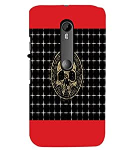 PrintDhaba Skull D-6044 Back Case Cover for MOTOROLA MOTO G3 (Multi-Coloured)