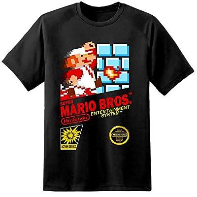 Super Mario Brothers NES Retro Game Cover T Shirt (S-3XL) Nintendo N64 SNES