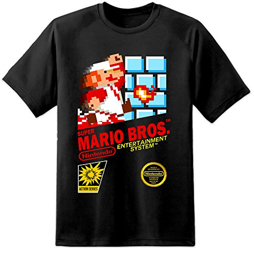 Mario Brothers T-shirt (Super Mario Brothers NES Retro Game Cover T Shirt (S-3XL) Nintendo N64 SNES Sega)