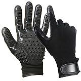 yardsky 1 Paar Fellpflege Handschuh für Katze und Hund Tierhaar Grooming Tierhaarentferner Handschuhe bequee Haustier Bürste Hundehandschuh