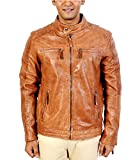 A-One Fashions Men's Leather Jacket (A1_...