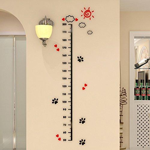 QTT Minimalistische Höhe Höhe Manometer wand Oberfläche 3d massive Wand messen Poster an der Wand kreativ, 1,8 M, K