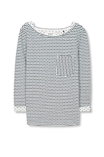 edc by Esprit 126cc1k027, T-Shirt Femme Blanc (OFF WHITE 110)