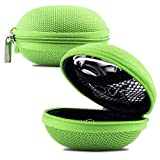 Green Earphone, Headphone Protective Hard Case, Storage Box, Carrying Pouch for NUHEARAIQbuds