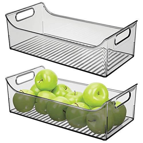 MDesign Juego 2 cajas nevera asas - Organizador frigorífico